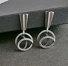 Sterling Modernist Earrings Paul Lobel Mid Century