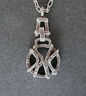 Vintage Swedish Sterling Modernist Claes Giertta Necklace Pendant