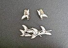 A Dragsted AD Erik Magnussen Design Geese Brooch Earrings Set