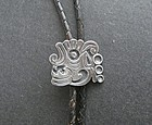Vintage Fortino Mota Taxco Bolo Tie Sterling Pre Columbian