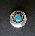Early Frank Patania Sr. Sterling Turquoise Brooch Thunderbird Shop
