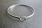 Vintage Modernist Kultateollisuus Ky Finland Sterling Bracelet Bangle