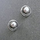 Kalo Sterling Silver Hand Wrought Earrings Arts and Crafts