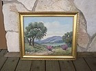 Listed Early Texas Artist Mae Barbee Painting
