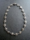 Vintage Georg Jensen Denmark Sterling Silver Rose Necklace 42B