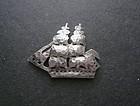 Franklin Porter Mass. Sterling Ship Brig Leander Brooch Arts Crafts