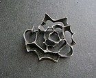 Sterling Silver Modernist Ronald Pearson Abstract Rose Brooch Pin