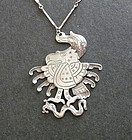 Spratling Rare Feathered Eagle Pendant 980 WS 1st Design Period