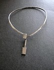Vintage Sterling Silver Taxco Modernist Choker Necklace