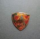 Vintage Swirled Enamel on Copper Brooch Signed KIDD AUST