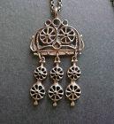 Vintage UNI David Andersen Unn Tangerud Bronze Pendant Necklace