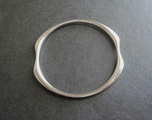 Vintage Modernist Georg Jensen Sterling Bangle Bracelet 155 Ditzel