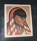 California WPA Artist Maxine Albro Signed Print