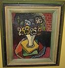 HANS FOY, OIL ON PANEL,UNTITLED STILL LIFE, 1930