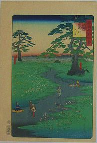 HIROSHIGE II, SHINSHU KIKYO-GA-HARA, 1860