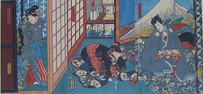 UTAGAWA KUNISADA (TOYOKUNI III) KABUKI TRIPTYCH