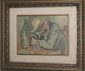 MARCO NOVATI, OLD MAN DRINKING, 1940S