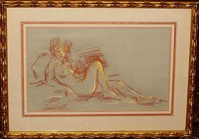 JAN DE RUTH, UNTITLED NUDE PASTEL, 1960S