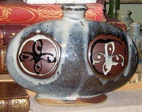 MINGEI STYLE MID-20TH CENTURY JAPANESE COCOON VASE