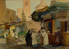 "JOHN SCOTT WILLIAMS ""CAIRO, NATIVE QUARTERS"", 1930S"