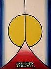 HENRY KALLEM, MONHEGAN SUNRISE, ORIGINAL OIL, 1965