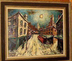 HARRY SHOULBERG, STREET VIEW OF NEW YORK, CIRCA 1940S