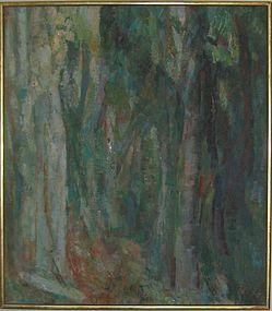 """ANTHONY TONEY """"WOODLAND"""" OIL ON CANVAS, 1960"""
