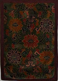 RARE ANTIQUE TIBETAN RUG CIRCA 1880-1900