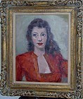 ALFONSO BENAVIDES PORTRAIT OF A WOMAN IN RED