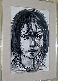 RUTH SCHLOSS PORTRAIT OF A YOUNG GIRL