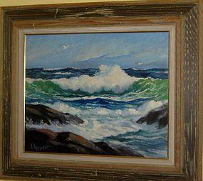 "SAM SARGENT, ""RESTLESS SEA II"", CIRCA 1950"