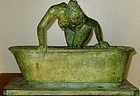 "DAVID MCFALL ""GIRL STEPPING INTO A BATH"" 1973 BRONZE"