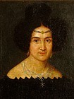 OLD MASTER PORTRAIT OF A BEAUTIFUL WOMAN EUROPEAN