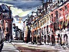 "ROBERT J. FREIMAN ""PLACE DES VOSGES"" ORIGINAL WATERCOLOR 1953"