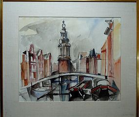JACQUES DESPIERRE ORIGINAL WATERCOLOR AMSTERDAM