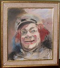 MAURICE FREED PORTRAIT OF A CLOWN CIRCA 1940