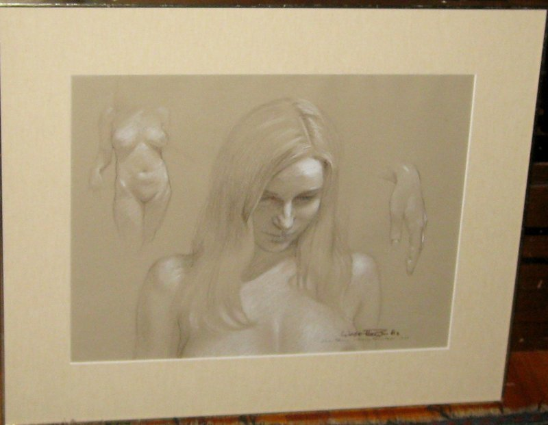 WADE REYNOLDS 1977 ORIGINAL PASTEL AND CHARCOAL