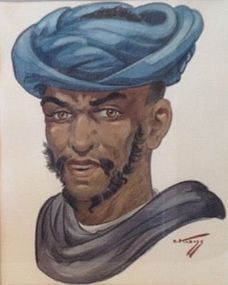 HANS KLEISS PORTRAIT OF A BERBER MAN FROM MOROCCO