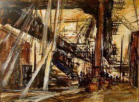 "RUBI ROTH ""UNDER THE BRIDGE--CONSTRUCTION"" NEW YORK"
