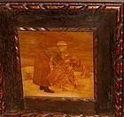 "ALBERT JAMES ROWLEY MARQUETRY PANEL, ""BINDING""."
