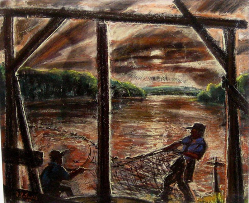 "NORTHAM ROBINSON GOULD ""CASTING THE NETS"" 1946"