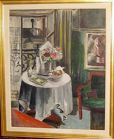 "MILDRED LUCILE CROOKS ""PARIS INTERIOR"" 1930S"