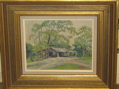 INEZ STAUB ELDER ORIGINAL OIL PAINTING UNTITLED
