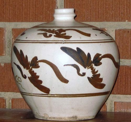 CIZHOU PAINTED TRUNCATED MEIPING, JIN-YUAN DYNASTY