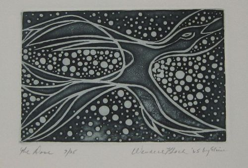 """WENDELL H. BLACK """"THE DOVE"""" ETCHING 1965"""