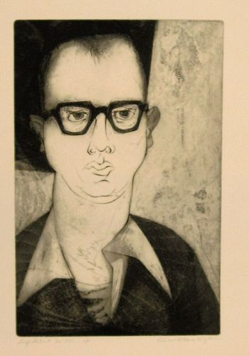 "WENDELL H. BLACK ""SELF-PORTRAIT 50-55"" INTAGLIO"