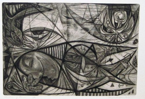 "WENDELL H. BLACK ""THE DREAM OF REASON"" INTAGLIO 1952"
