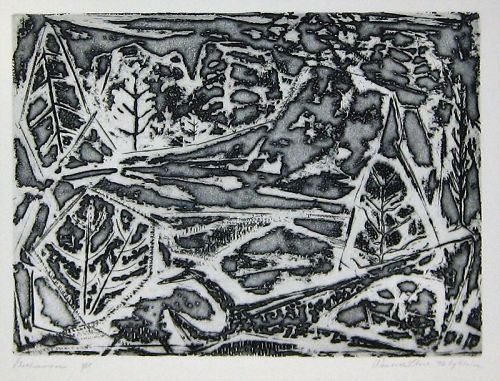 "WENDELL H. BLACK ""GETHSEMANE"" ETCHING ON COPPER  1952"