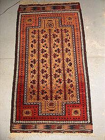 Antique Balouchi Double-Prayer rug