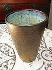 Pierre Greber Oversize Vase, Iridescent Gold Glaze